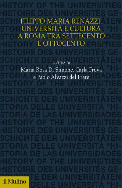Copertina Filippo Maria Renazzi